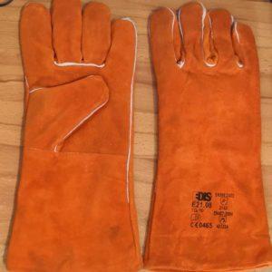 Guanti da saldatura EDIS E2108 in pelle crosta bovina manichetta 14,5cm